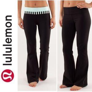 Lululemon Groove Pant Sea Stripe Mint Moment Black